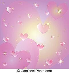 cuori, st, cartolina auguri, valentina