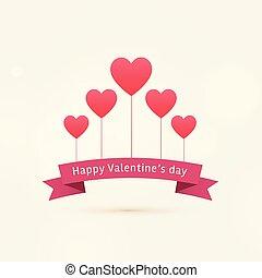 cuori, valentine, felice, fondo, volare, giorno