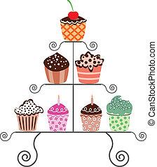 cupcakes, stare in piedi