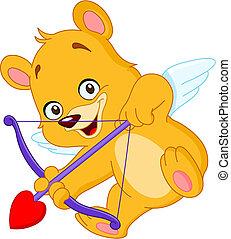cupido, orso, teddy