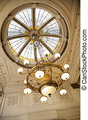 cupola, candeliere, caffè, appendere