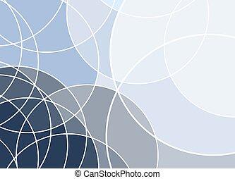 curva blu, linea bianca, fondo., astratto