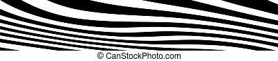 curvo, bianco, vettore, astratto, linee, nero