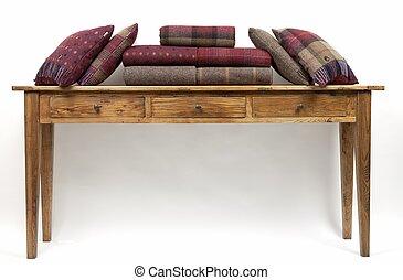 cuscini, 1, credenza, stile, tavola