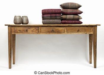 cuscini, tavola, credenza, 5, stile