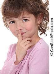 custodire, piccola ragazza, secret.