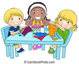 cutouts carta, bambini, fabbricazione