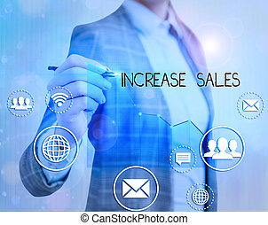 cycle., foto, testo, alto, esposizione, concettuale, segno, sales., completato, clienti, aumento vendite, numero
