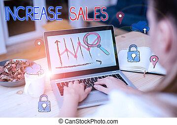 cycle., testo, alto, scrittura, sales., completato, clienti, vendite, concetto, significato, aumento, numero
