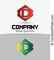 d, disegno, lettera, logotipo, icona, sagoma