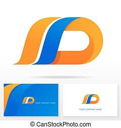 d, elements., disegno, lettera, logotipo, icona, sagoma