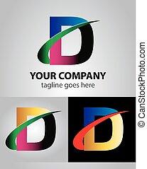 d, /letter, disegno, sagoma, logotipo, icona