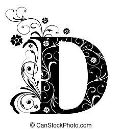 d, lettera, capitale