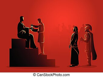 dado, pilate, condemns, gesù