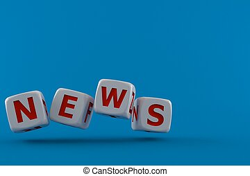 dado, testo, notizie