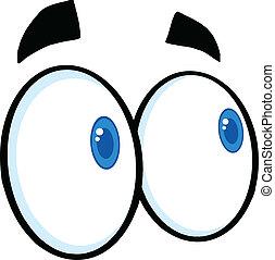 dall'aspetto, occhi, cartone animato