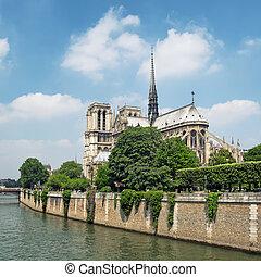 dama, notre, francia, -, parigi
