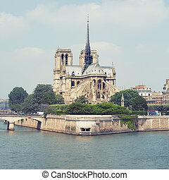 dama, notre, parigi, -, francia