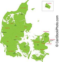 danimarca, mappa verde