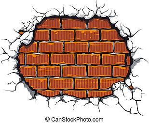 danneggiato, brickwall