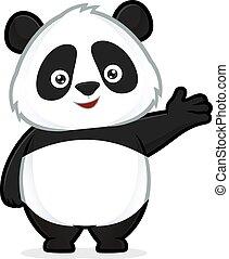 dare benvenuto, panda, gesto