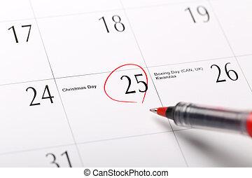 data, calendario, circondato