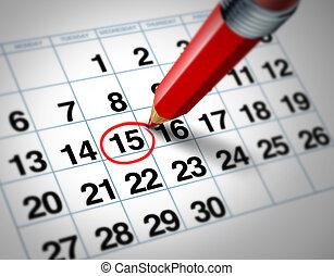 data, calendario