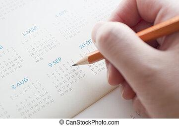 data, calendario, indicare