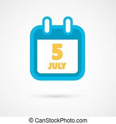 data, calendario, vettore, -, icona