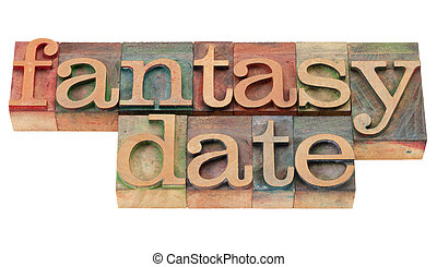 data, fantasia, tipo, letterpress