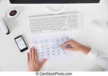data, marcatura, businessperson, calendario, importante
