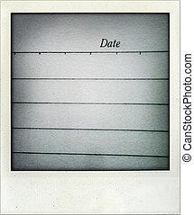 data, pagina