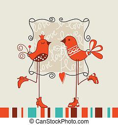 data, uccelli, romantico