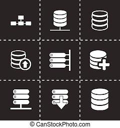 database, vettore, set, icona