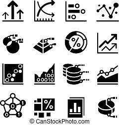 dati, affari, icona