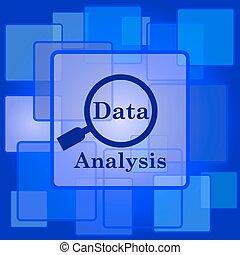 dati, analisi, icona