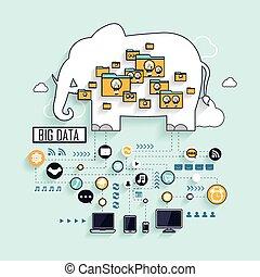 dati, grande, concetto