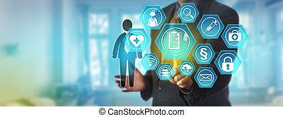 dati, salute, disco, accedere a, amministratore