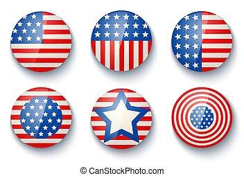 day., bandiere, indipendenza, stati uniti