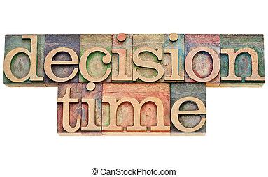 decisione, tempo