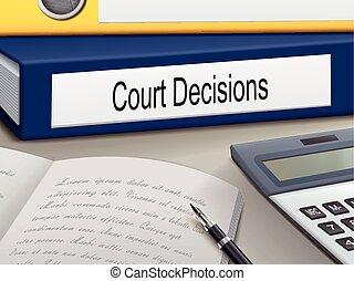 decisioni, corte, raccoglitori