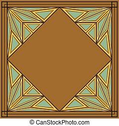 deco, arte, ornamento, quadrato