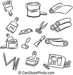 decorare, attrezzi, bricolage