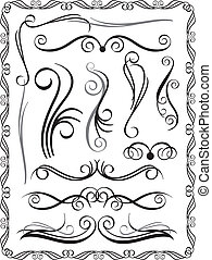 decorativo, 1, profili di fodera, set