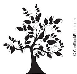 decorativo, albero