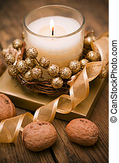 decorativo, candele, t, festivo