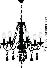 decorativo, candeliere
