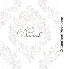 decorativo, decors, fiore, damasco, colorare, vendemmia, reale, vittoriano, ornato, vector., luce, modello, texture., design.