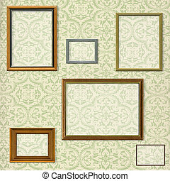 decorativo, immagine, ritaglio, selezione, percorsi, vendemmia, cornice, contro, fondo