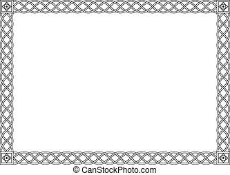 decorativo, ornamentale, semplice, cornice, nero, gotico